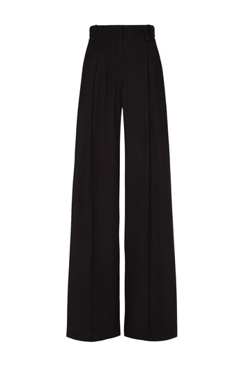 The Serena Trouser - Black Silk - SERENA BUTE