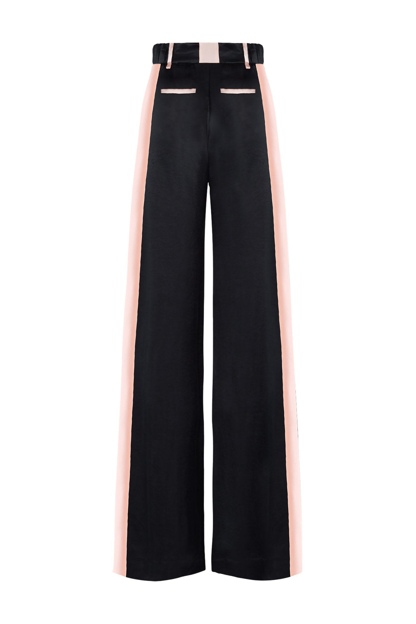 The Serena Trouser - Navy & Dusky Pink Silky Cupro - SERENA BUTE