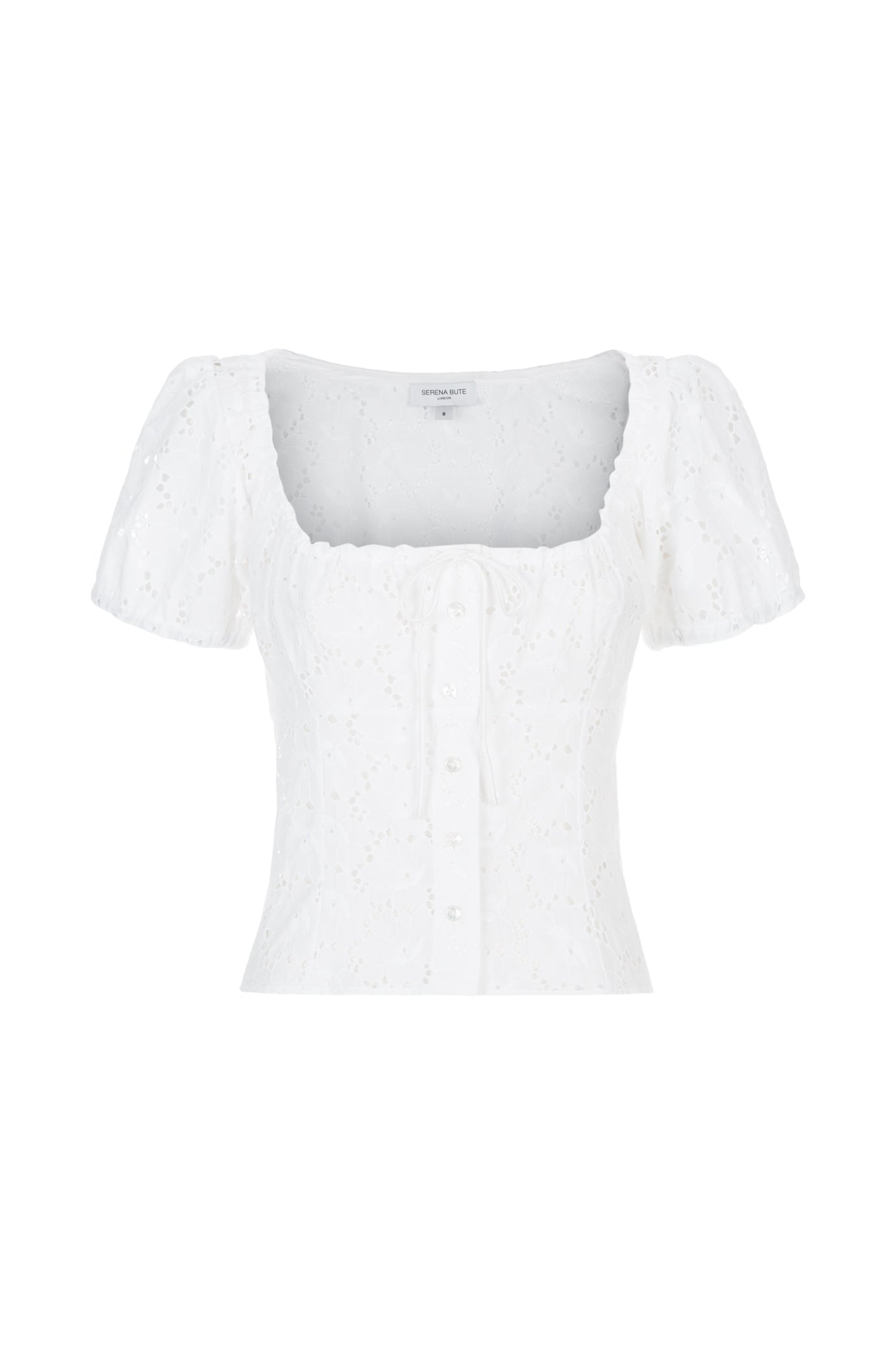 The Bodice Top - White Lace Cotton