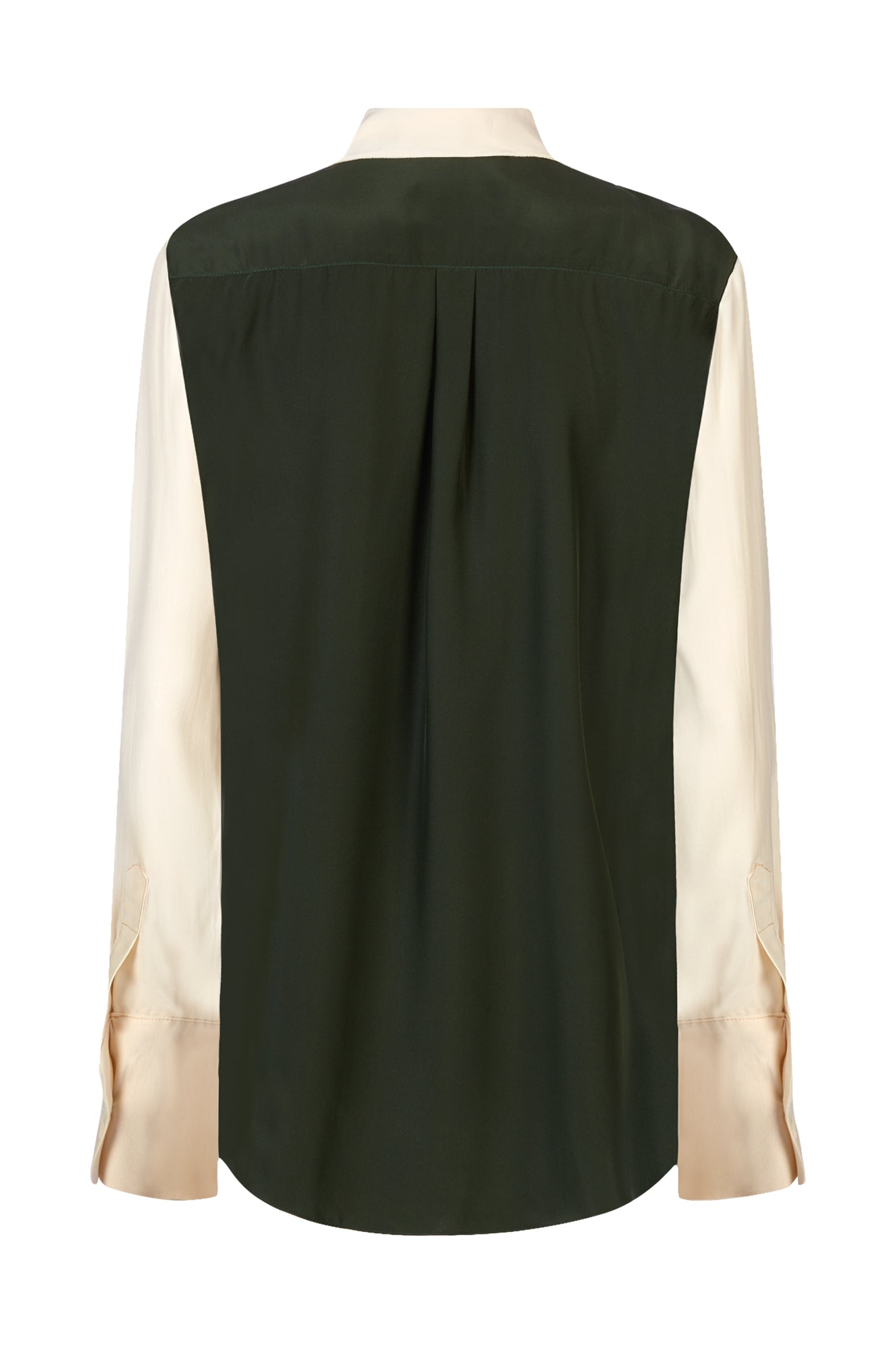 The Slim Shirt - Moss & Blush Silk