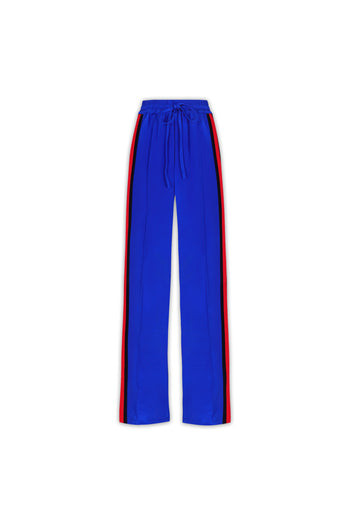 The Classic Jogger - Sapphire Blue, Navy & Poppy Red Silk