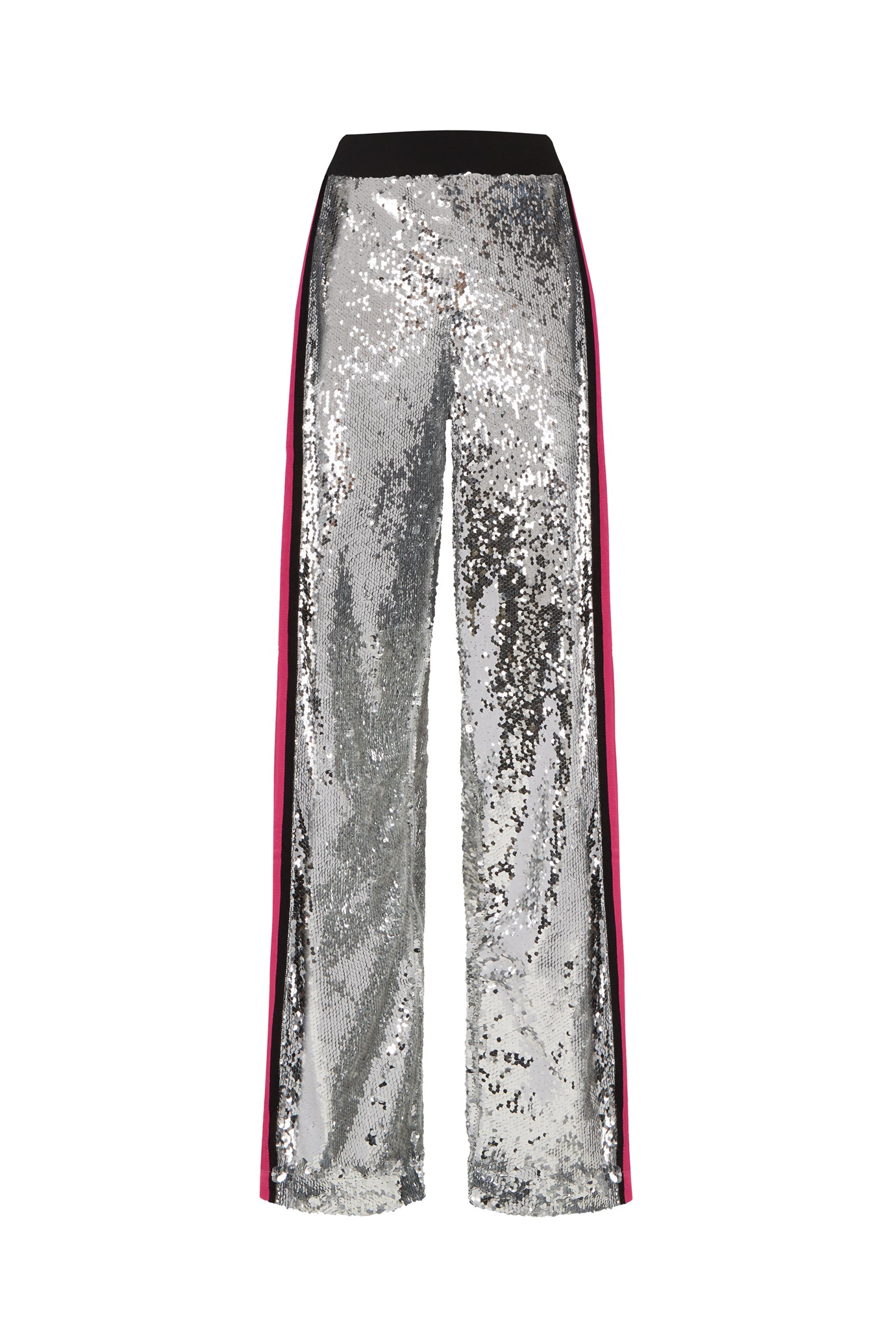 The Sequin Jogger - Silver & Shocking Pink - SERENA BUTE