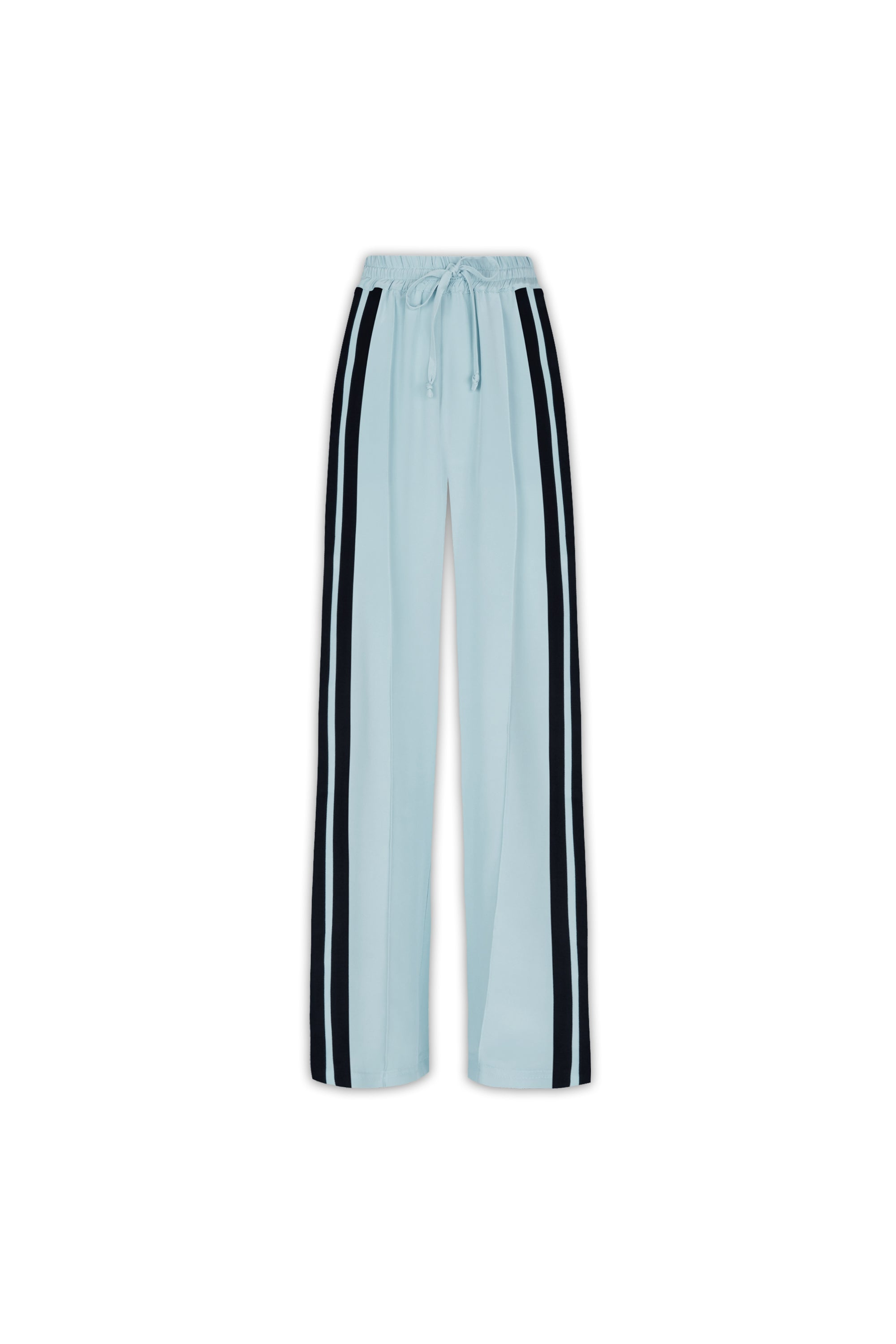 The Classic Jogger - Sky Blue & Black Silk