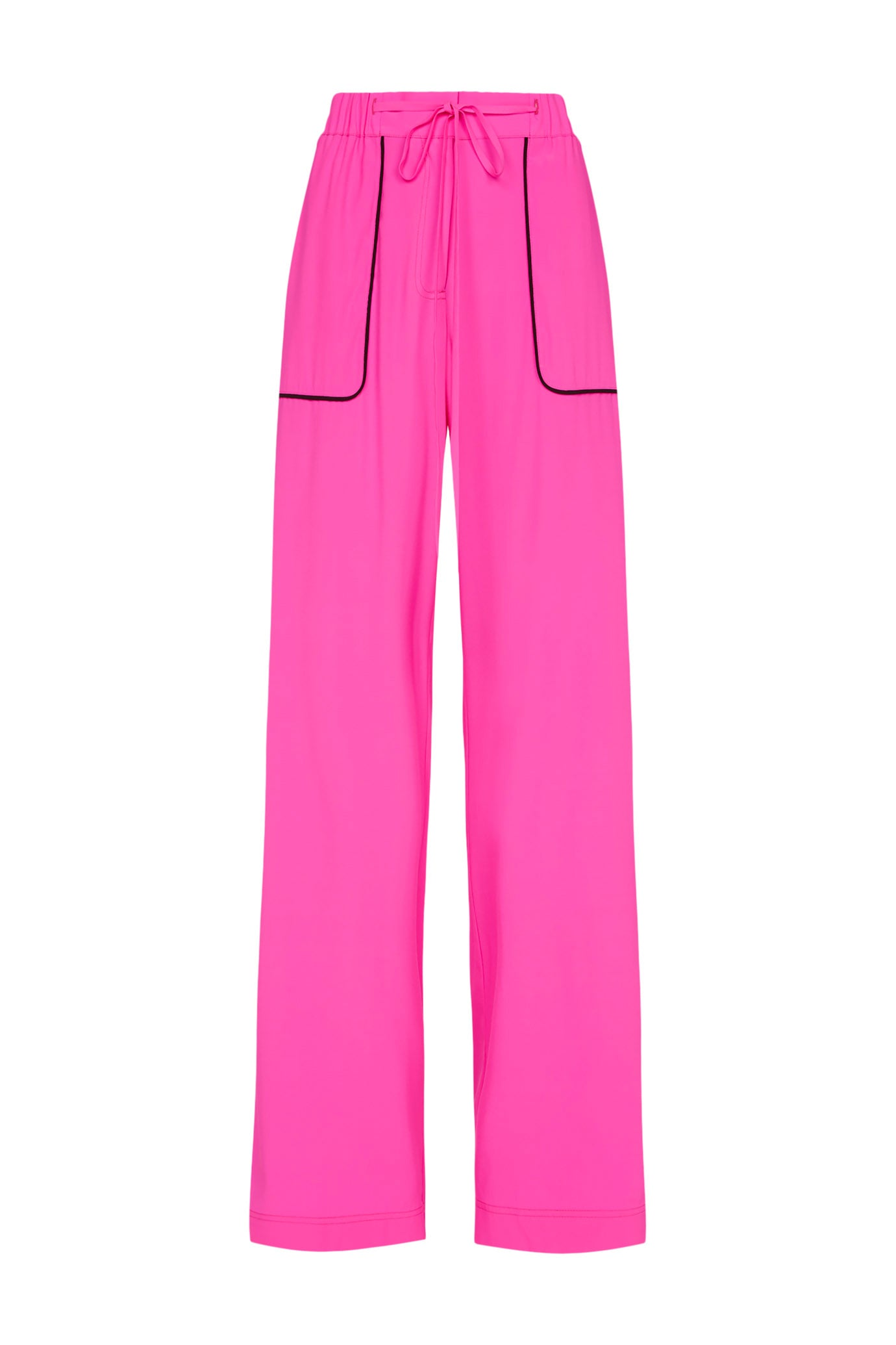 The Tailored Jogger - Shocking Pink & Black Silk - SERENA BUTE