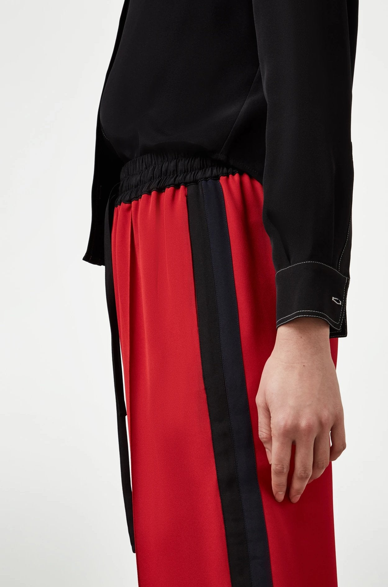 The Classic Jogger - Poppy Red, Black & Navy Silk - SERENA BUTE