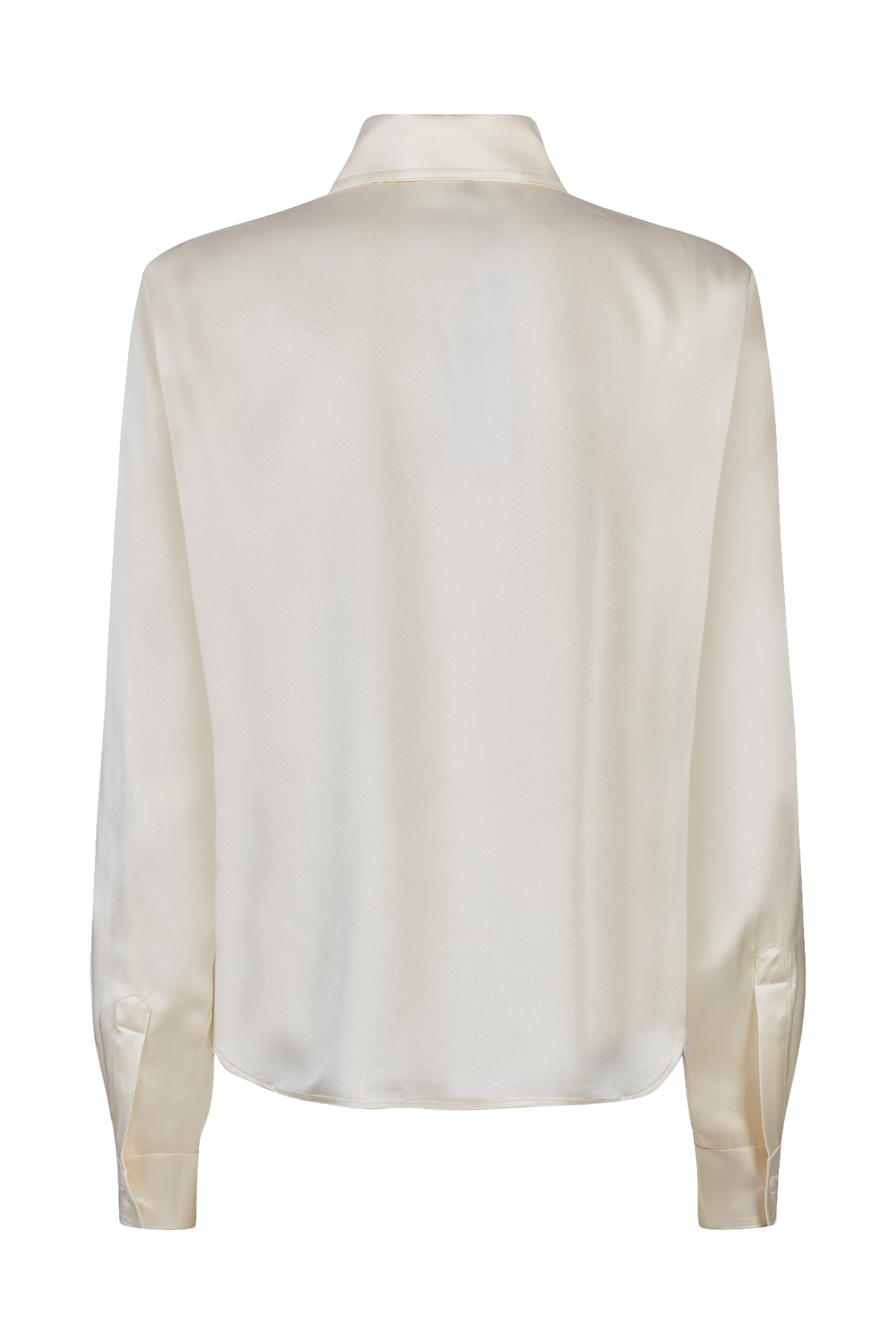 The serena fitted shirt blush silk