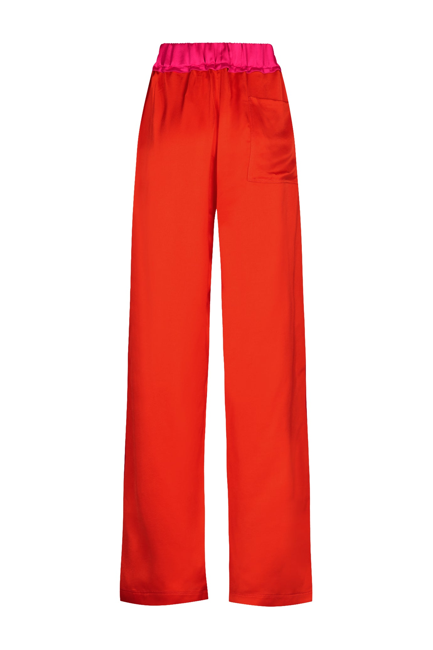 The Classic Wide Leg Jogger - Red & Hot Pink Viscose