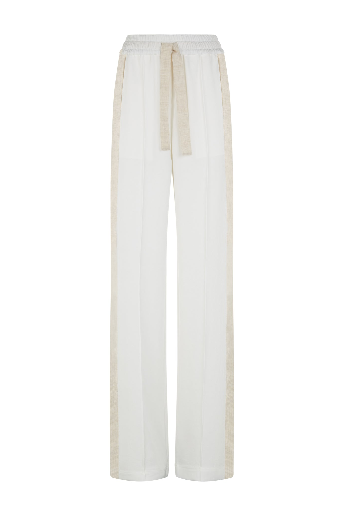 The classic wide leg jogger white natural fabric