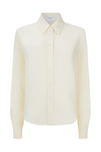 The Slim Shirt - Blush Matte Silk