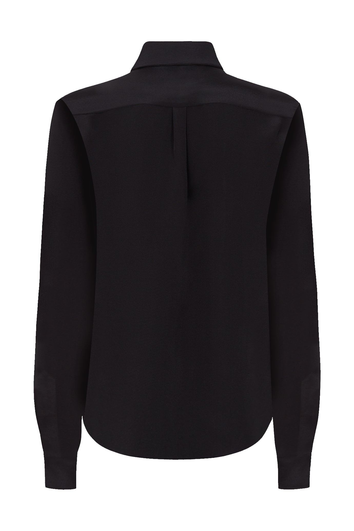 The Slim Shirt - Dark Navy Crepe Silk