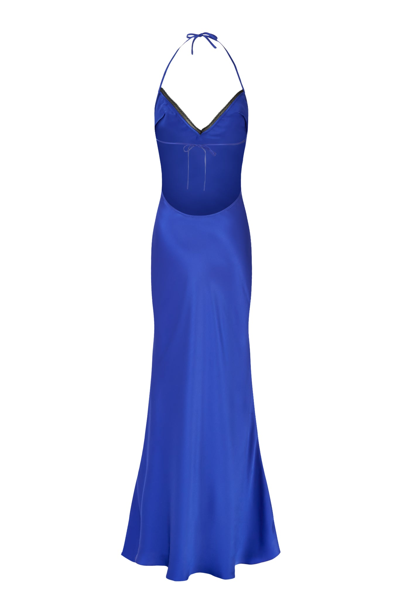 The slip dress sapphire silk