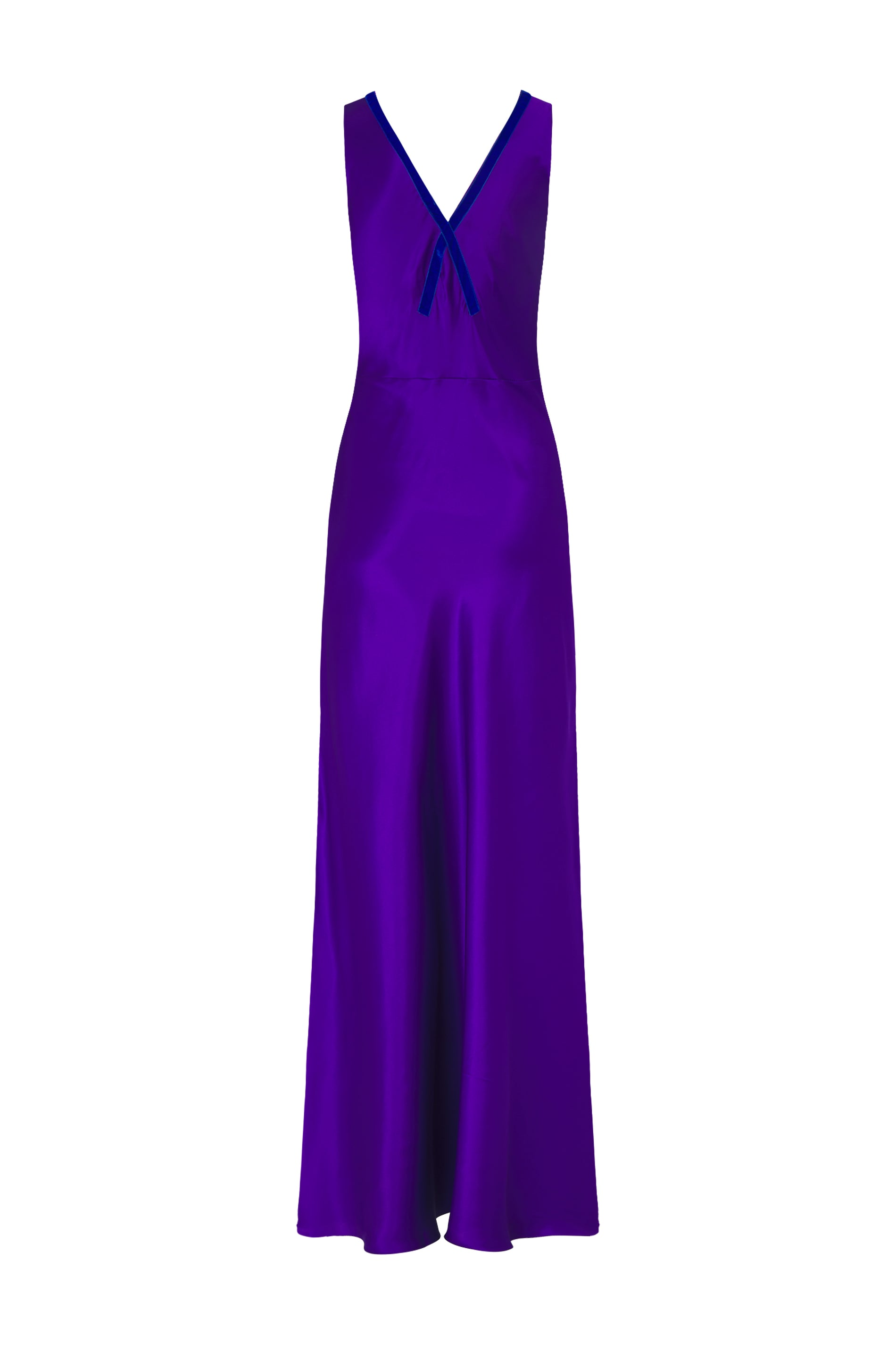 the v neck dress violet purple silk
