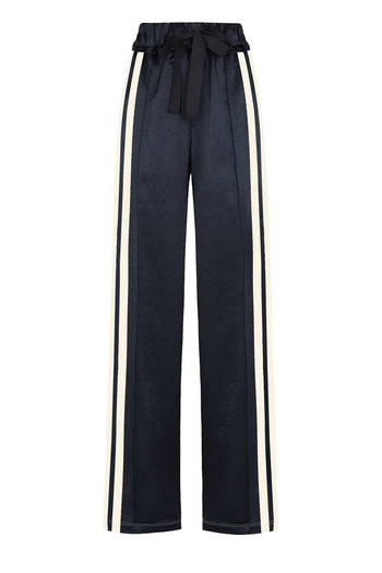 Wide leg jogger black navy