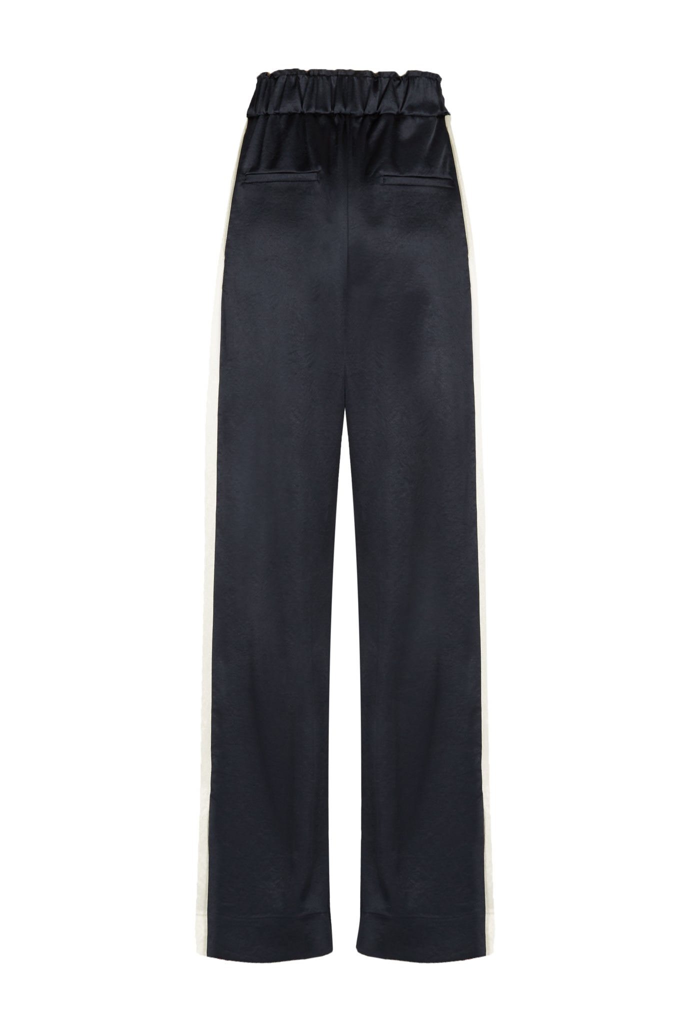 Alice straight leg trouser navy natural fabric Serena Bute