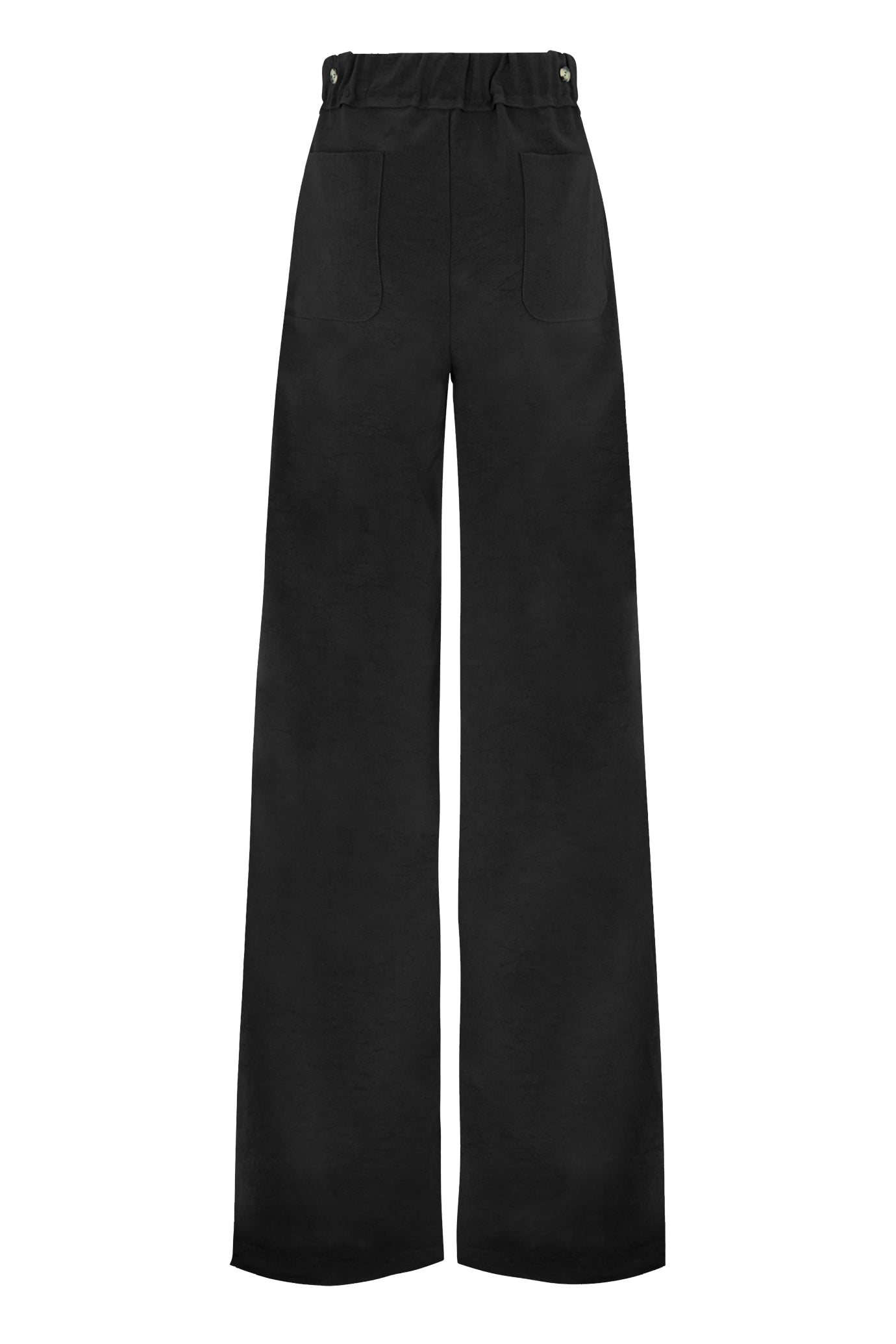 The Boyfriend Trouser - Black Natural Fabric