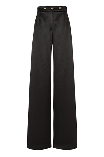 Boyfriend trouser black natural fabric Serena Bute