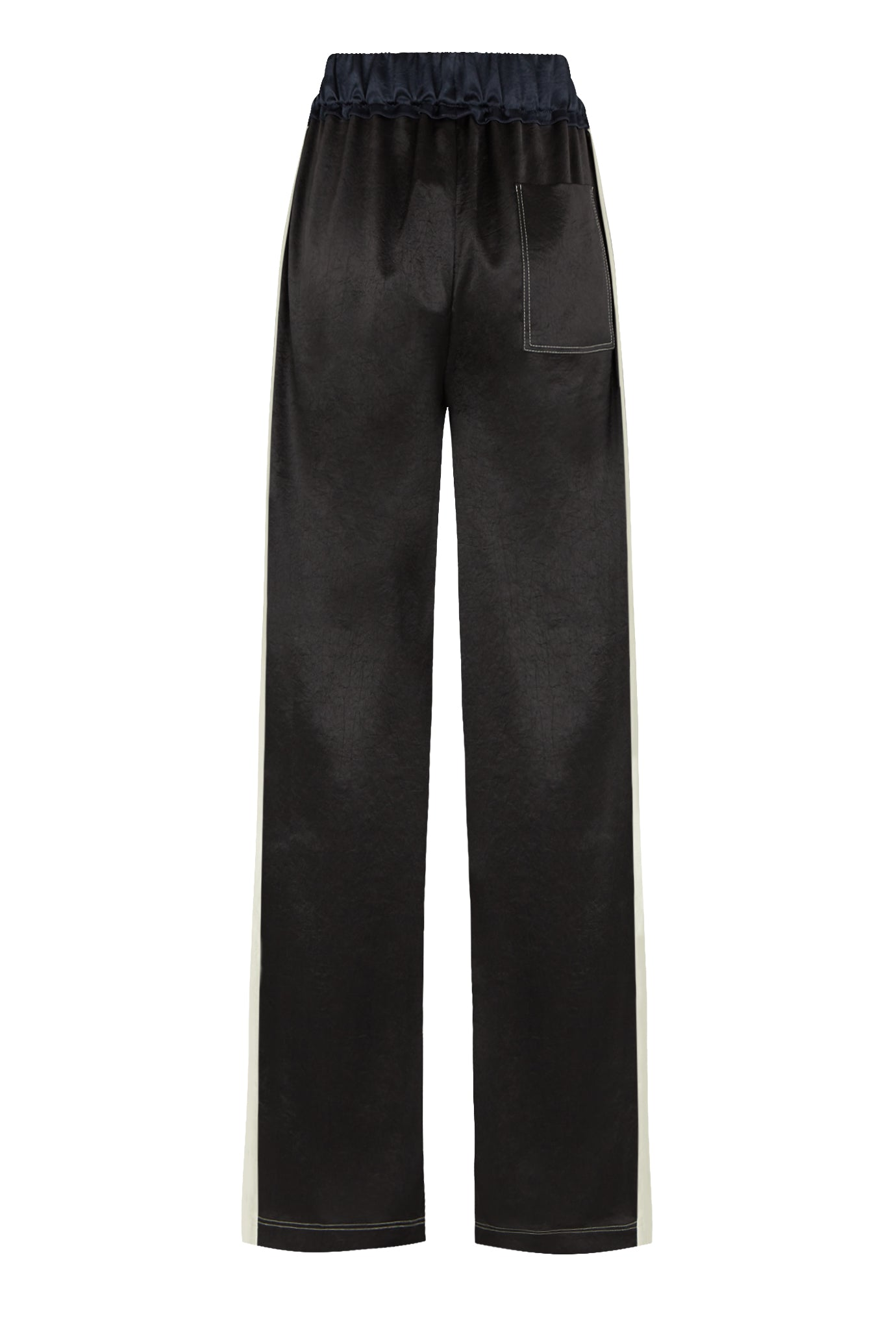 Classic wide leg jogger black navy natural fabric Serena Bute