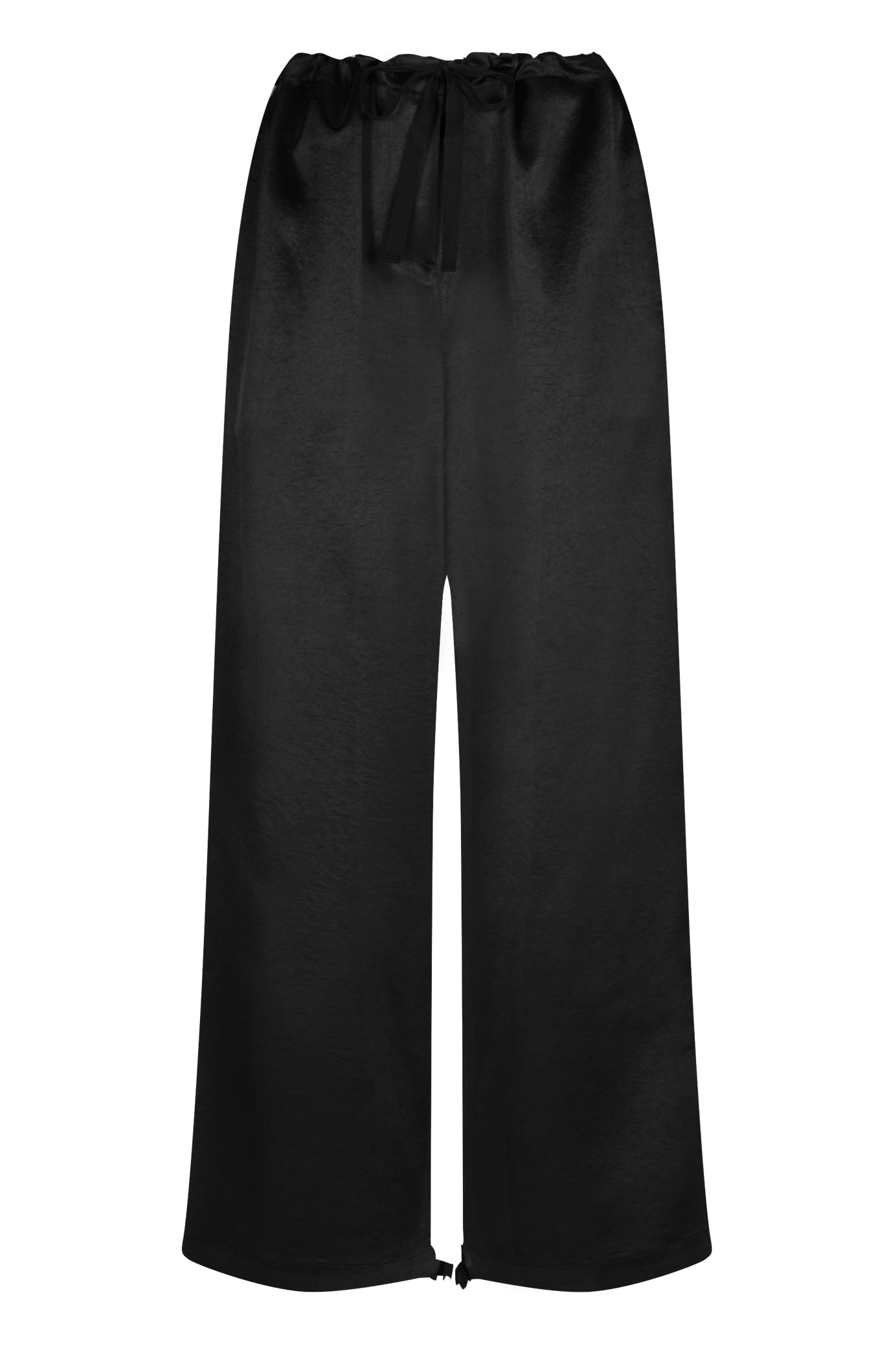 Lola cropped leg trouser black natural fabric Serena Bute