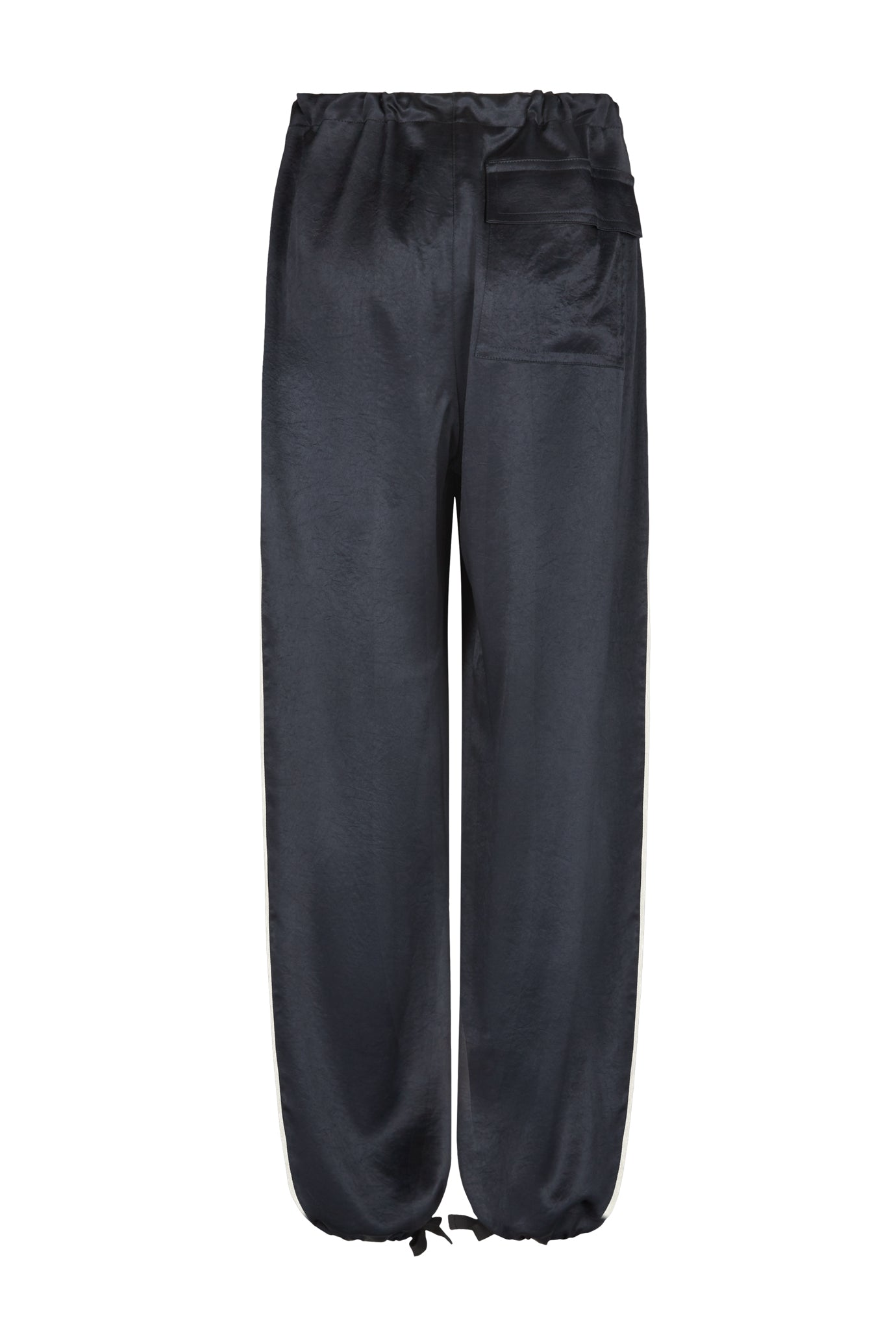 The Lola Cropped Trouser - Navy Natural Fabric
