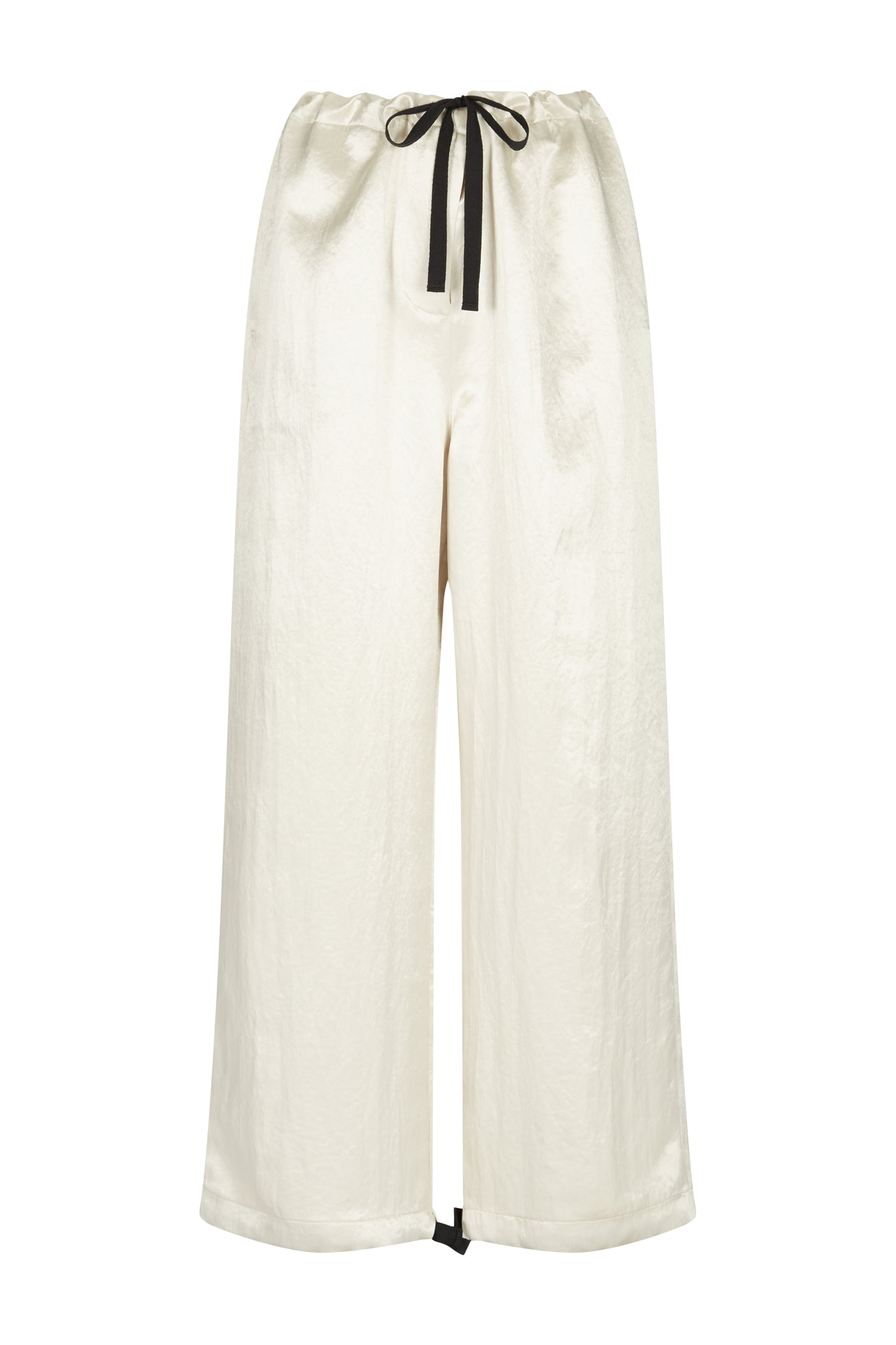 Lola cropped leg trouser stone natural fabric