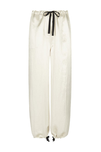 The Lola Cropped Trouser - Stone Natural Fabric