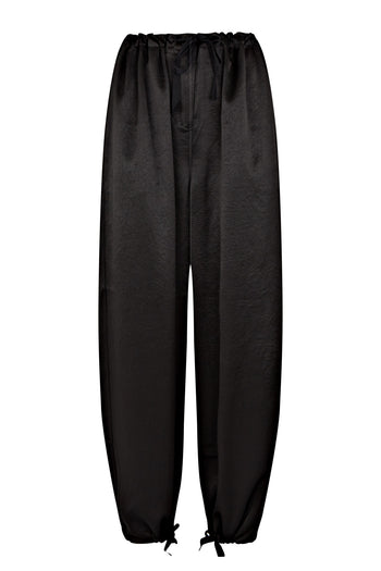 Lola cropped trouser natural fabric black Serena Bute