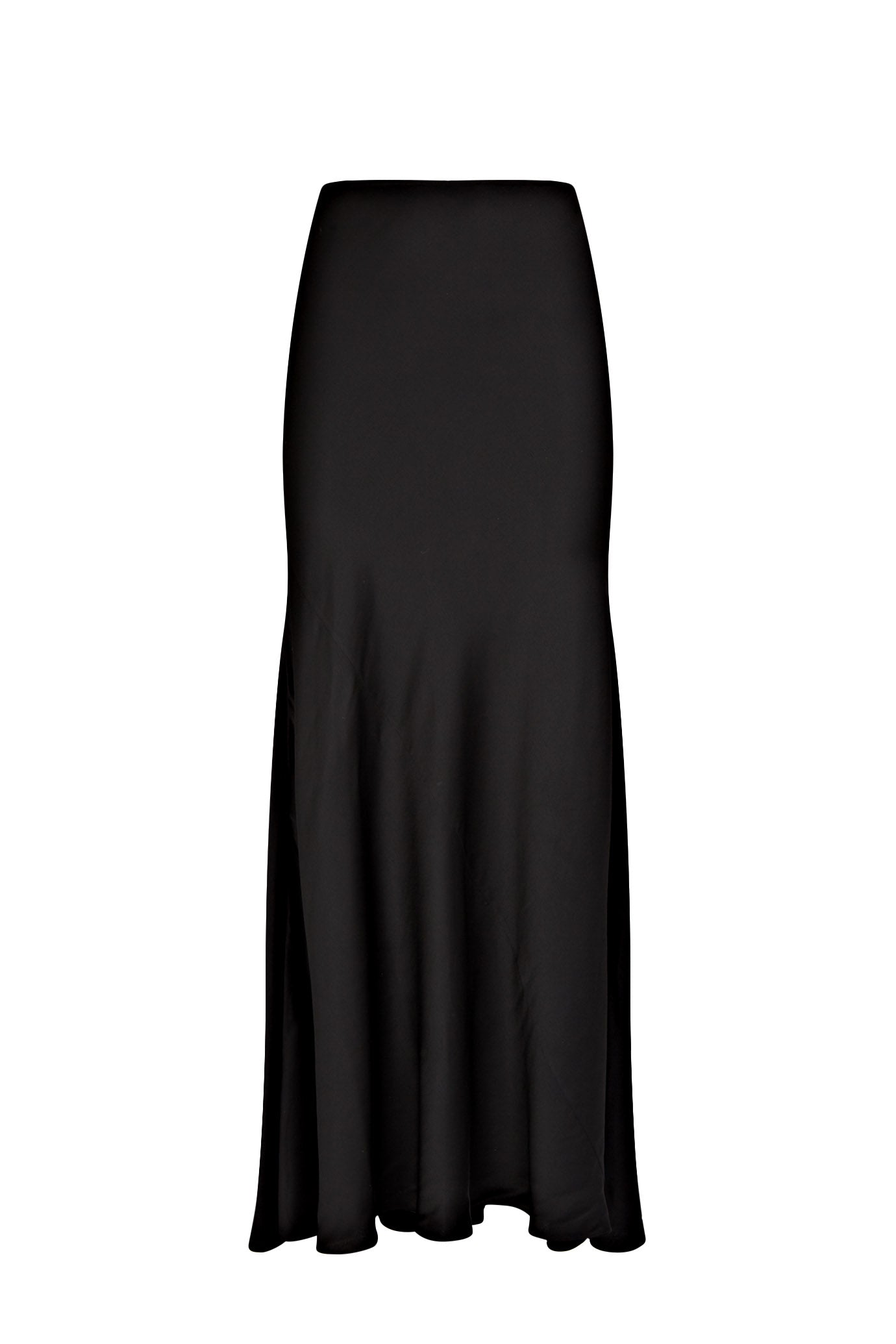 maxi skirt black viscose serena bute