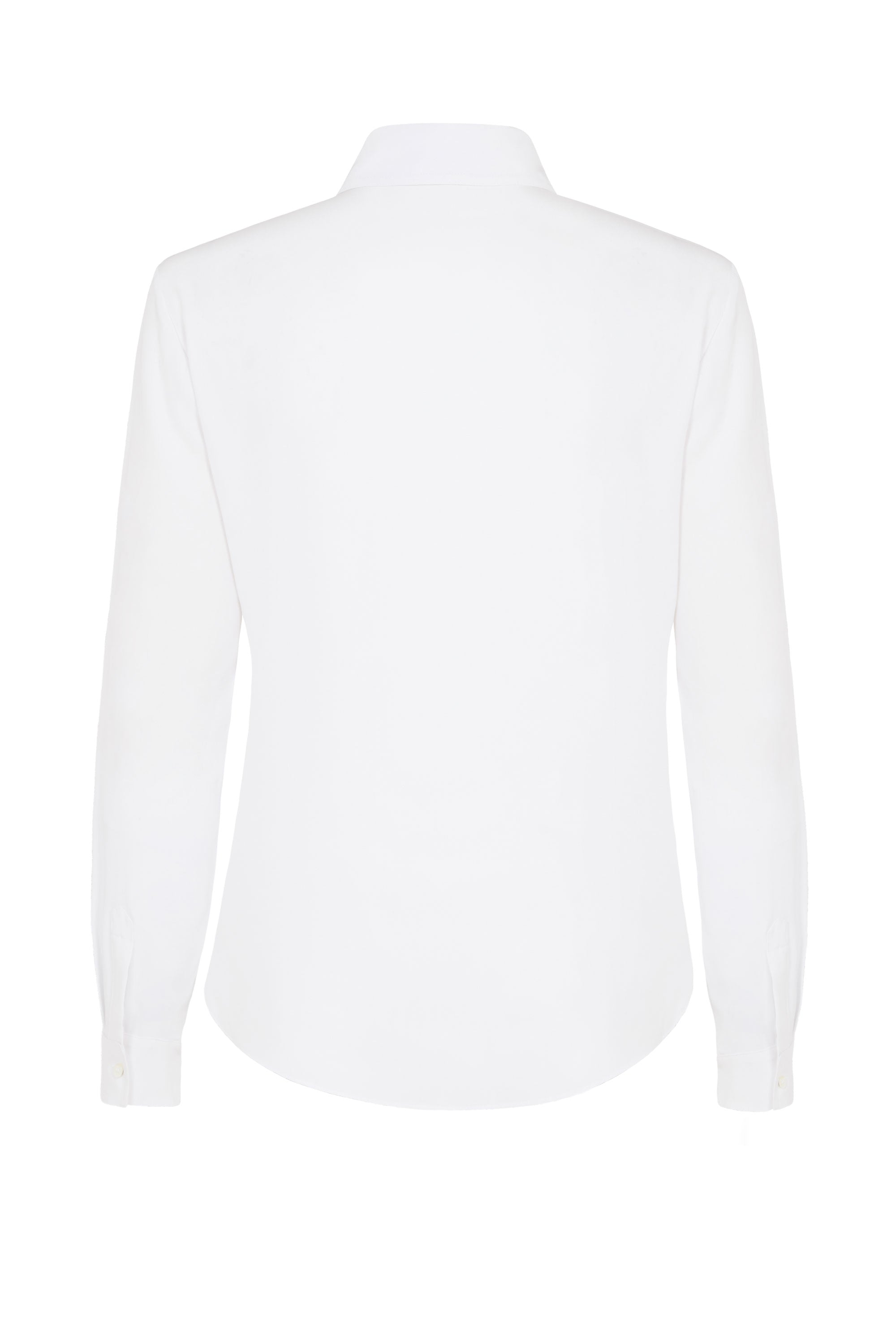 The New Serena Fitted Shirt - White Matte Silk