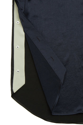 The Pocket Shirt - Navy, Black & Stone Natural Fabric