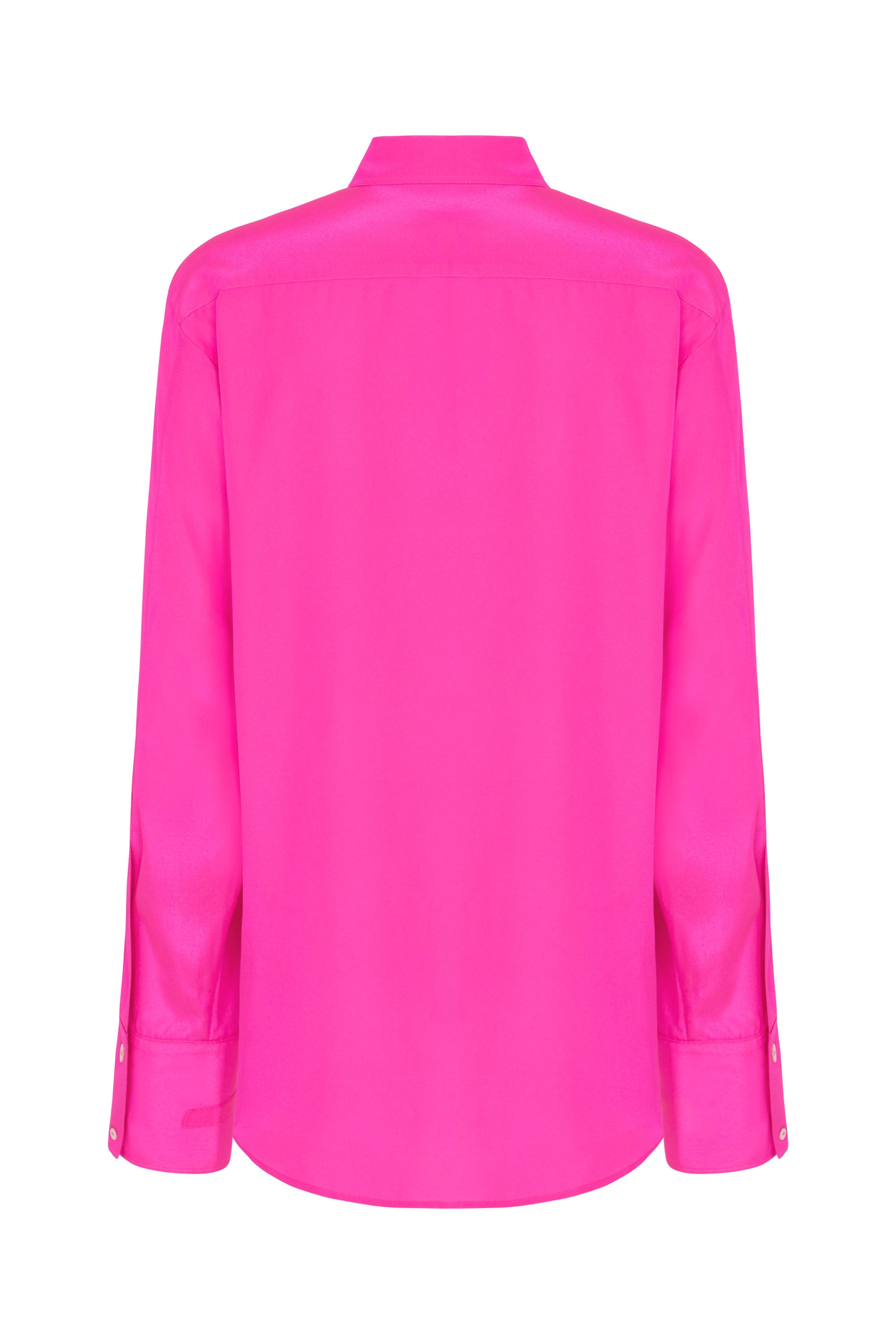 Oversized shirt neon pink polyester serena bute