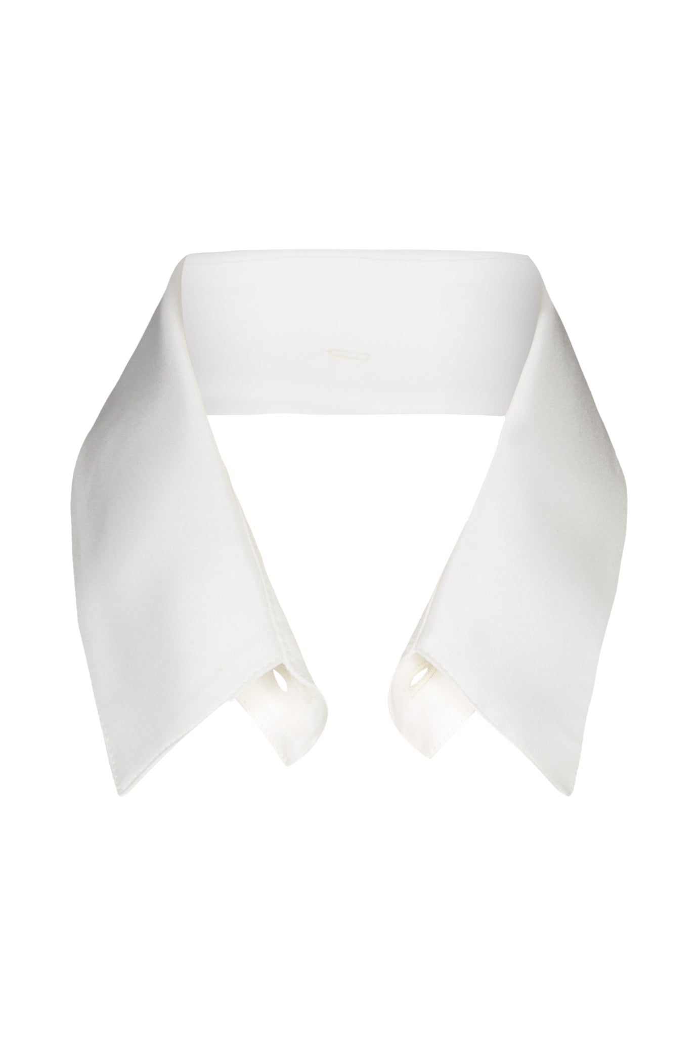 Peggy oversize shirt collar white silk