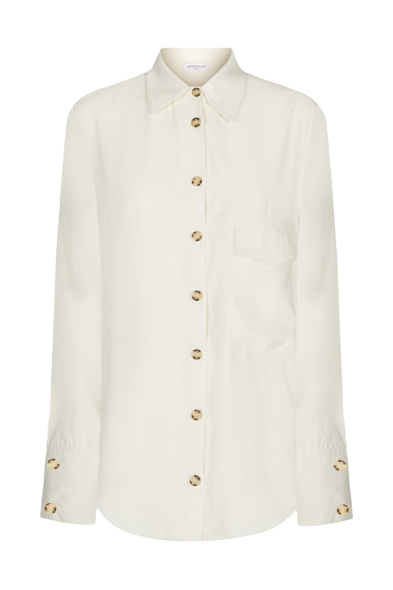 Pocket oversized shirt cream natural fabric Serena Bute