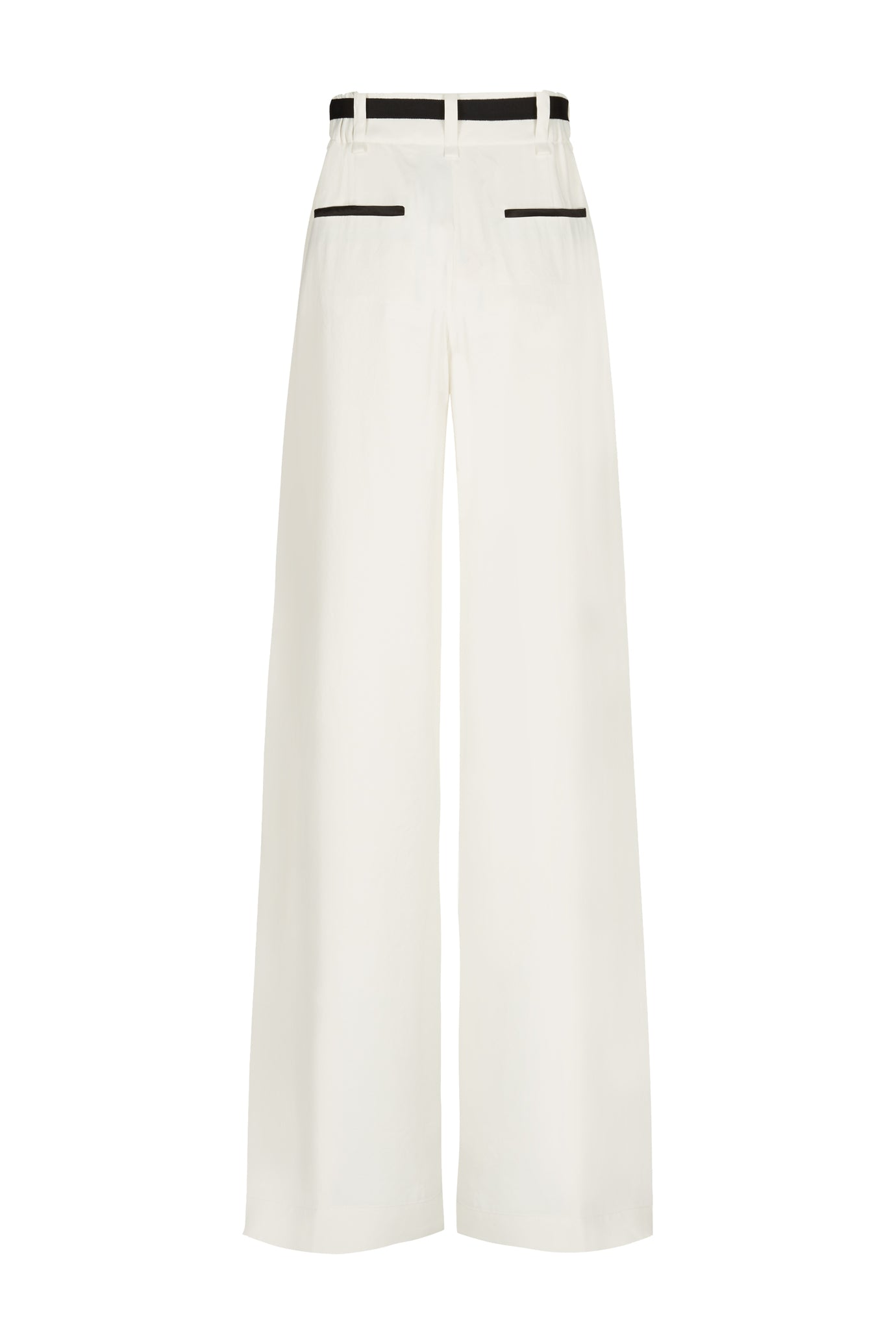 Serena wide leg trouser cream natural fabric