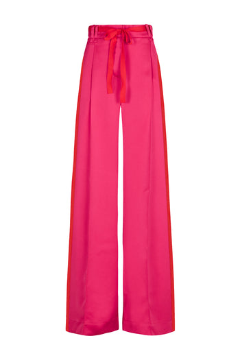 The Serena Wide Leg Trouser - Pink Viscose