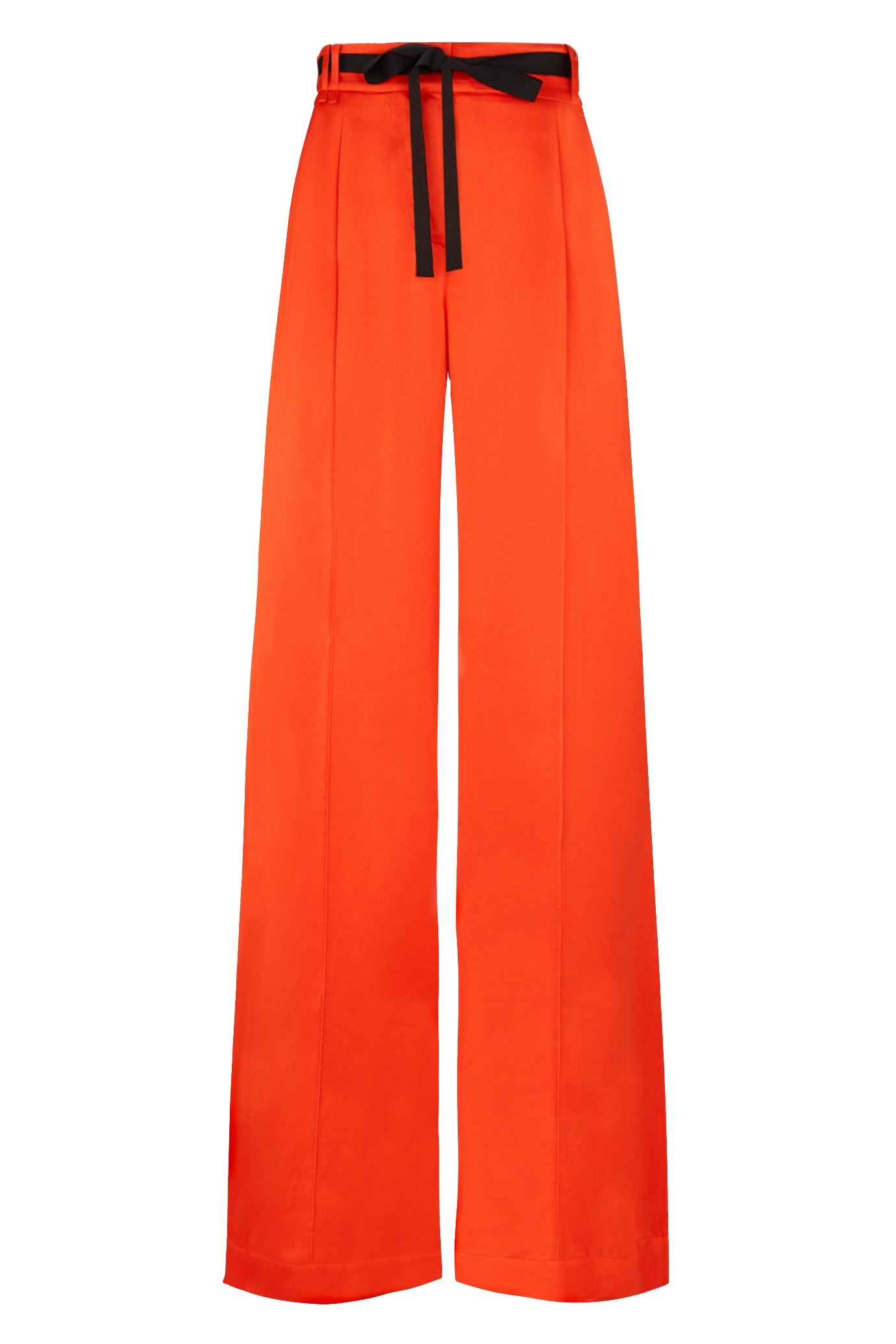 The serena wide leg trouser red viscose