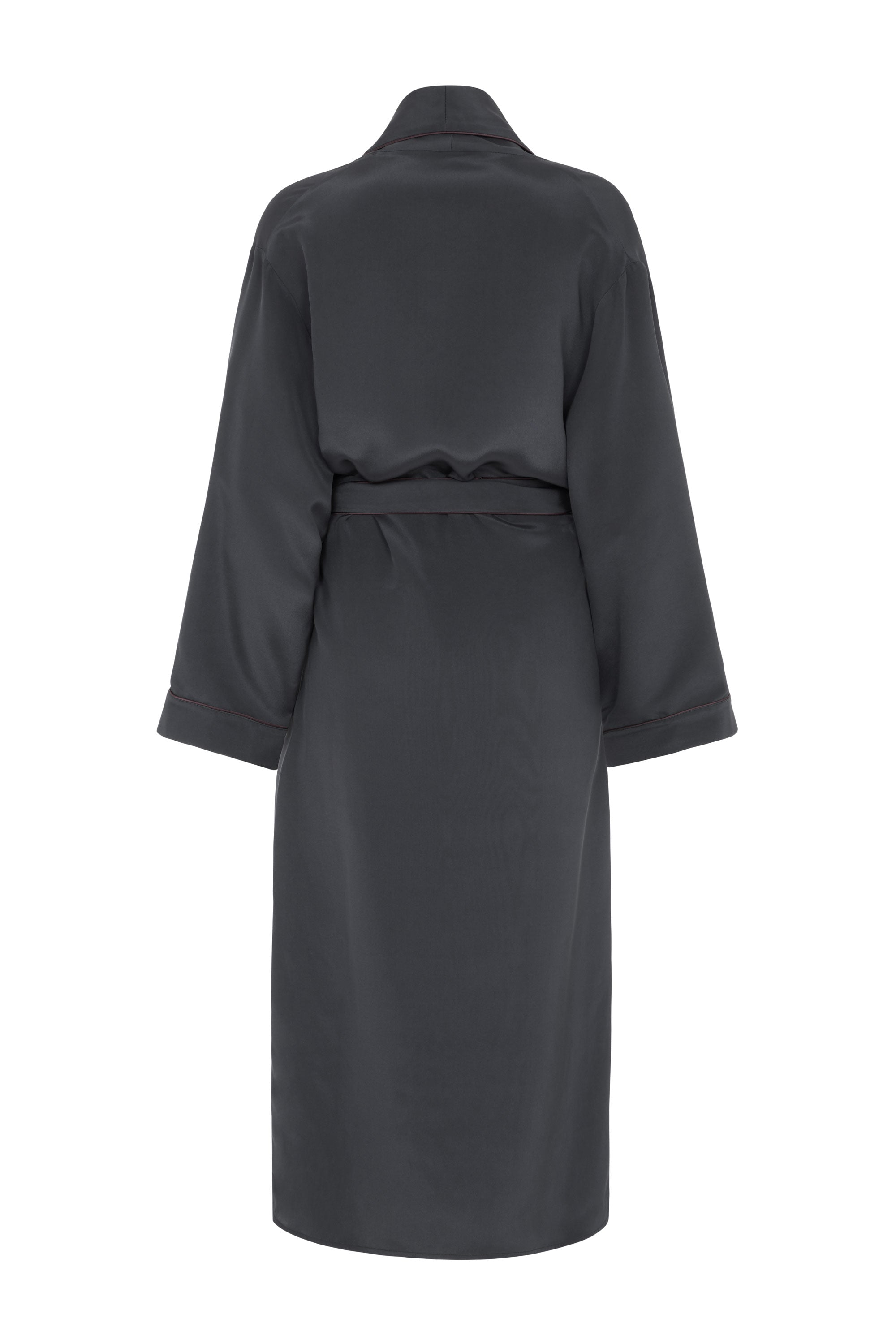 silk dressing gown black serena bute
