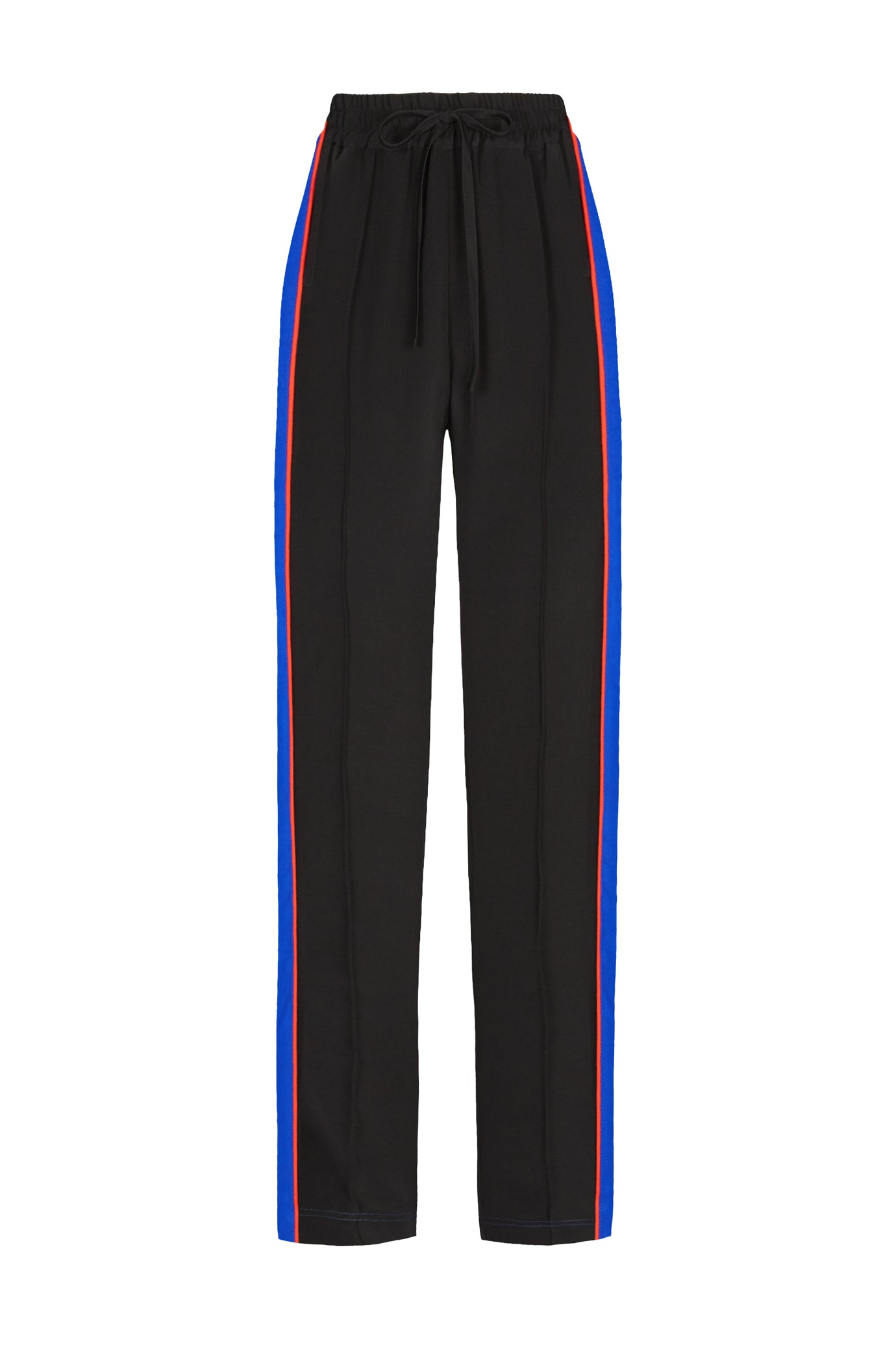 Skinny jogger silk black blue red Serena Bute