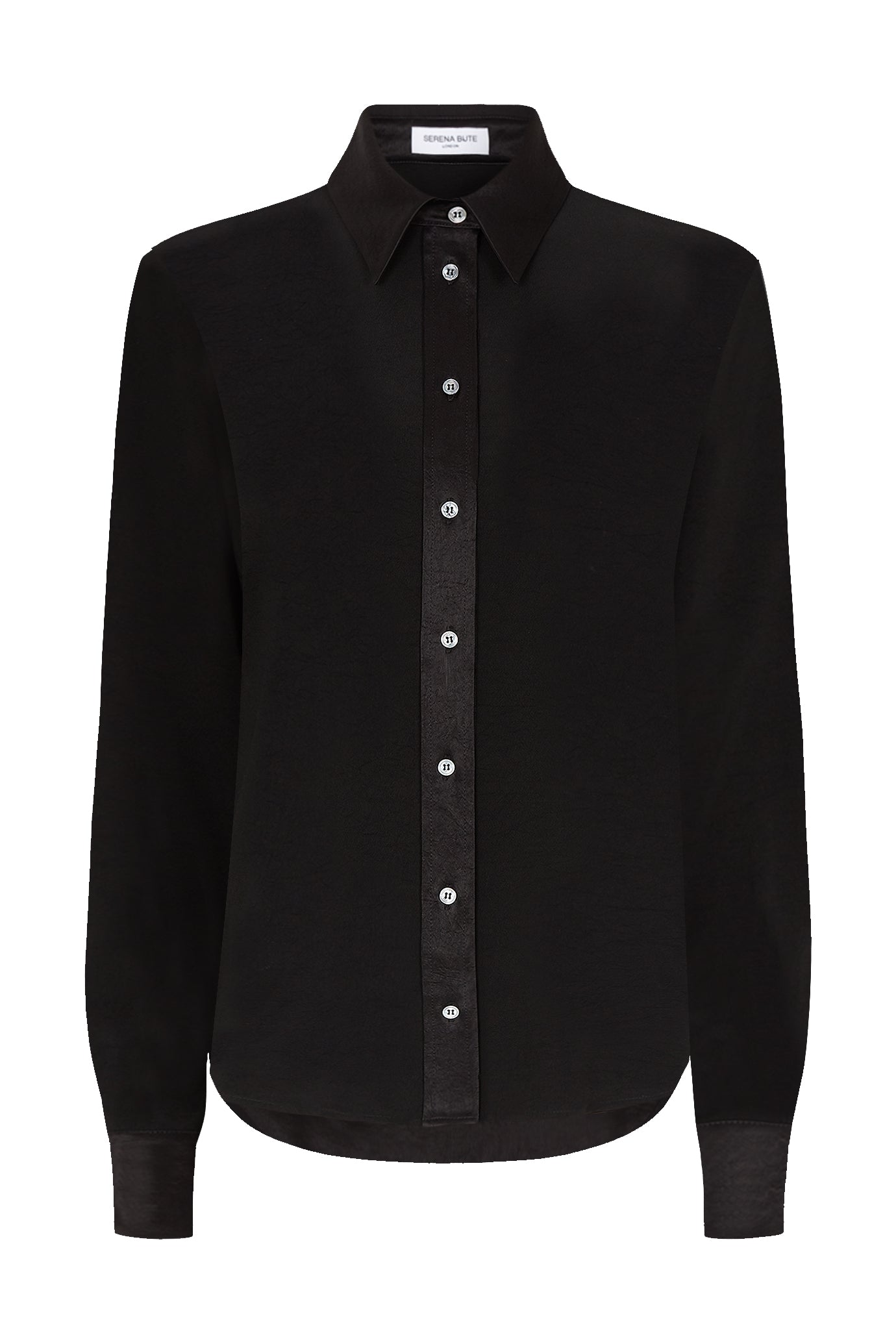 The Slim Shirt - Black Natural Fabric