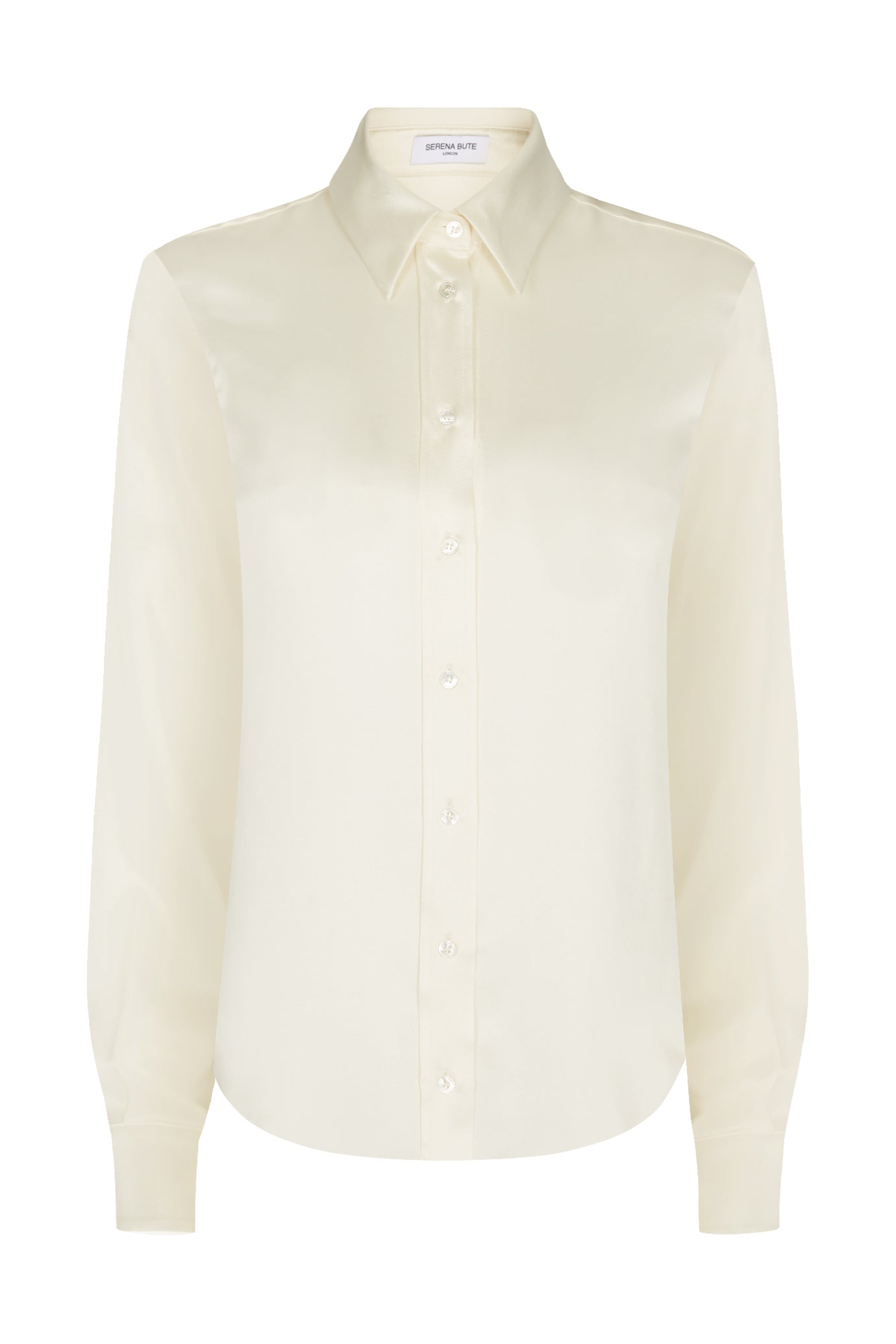 Slim shirt blush silk Serena Bute