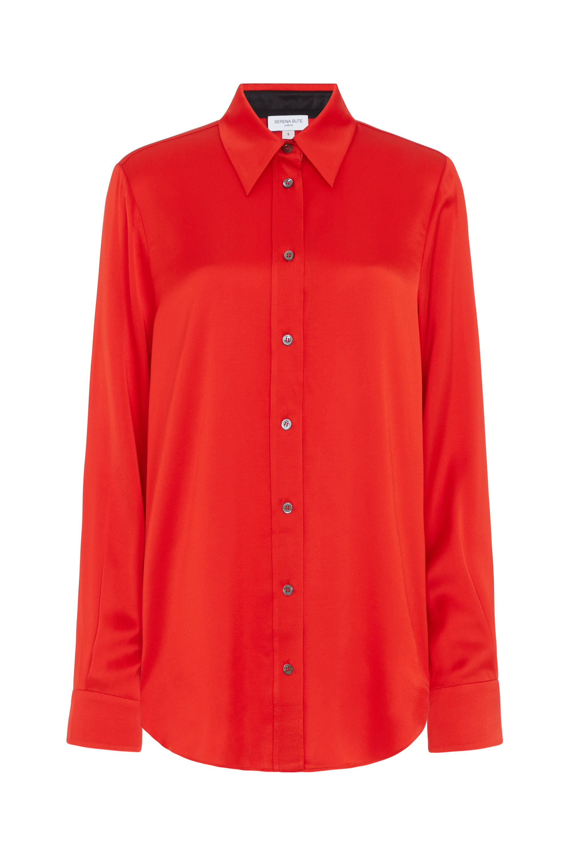 slim shirt red viscose serena bute