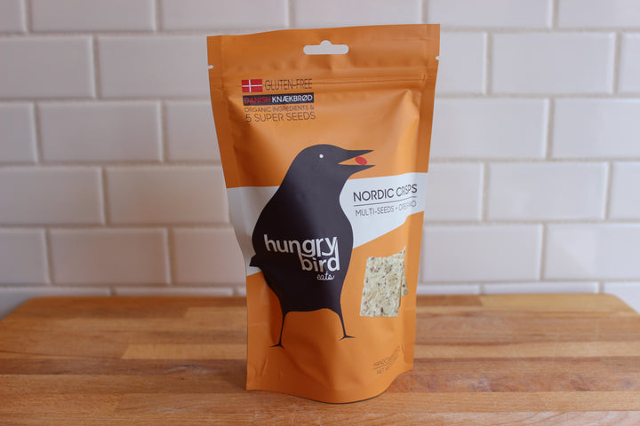 Hungry Bird Nordic Crisps, Multi Seeds + Oregano (Gluten Free)
