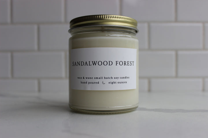 Wax & Wane Candle - Sandalwood Forest