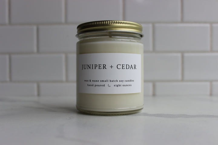 Wax & Wane Candle - Juniper and Cedar
