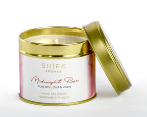 Shifa Aromas Luxury Travel Tins | 200g - Shifa Aromas - Scented Soy Candle - Luxury Candles