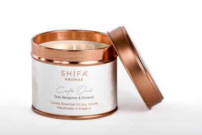 Shifa Aromas Luxury Essential Oil Travel Tins | 200g - Shifa Aromas - Scented Soy Candle - Luxury Candles