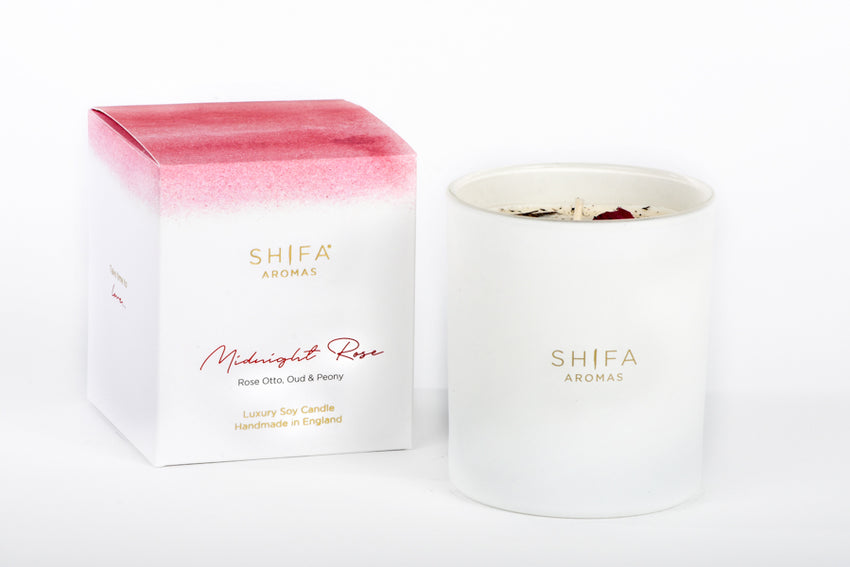 Midnight Rose - Shifa Aromas - Scented Soy Candle - Luxury Candles