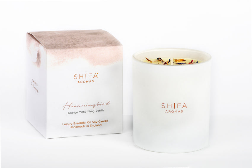 Shifa Aromas Luxury Essential Oil Luxury Glass Candles | 220g - Shifa Aromas - Scented Soy Candle - Luxury Candles