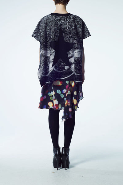 Slade Collection- Chain Graphic Knitted Jacquard Sculpture Cloak