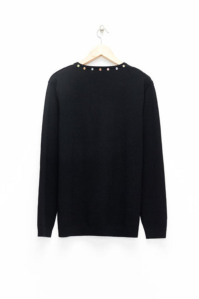 Slade Collection- Diamond Rivet Detailed Knitted Top