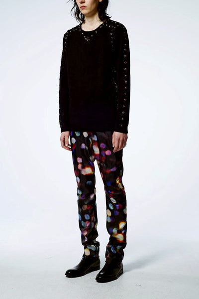 Slade Collection- Colourful Dots Printed Trouser - Johan Ku Shop